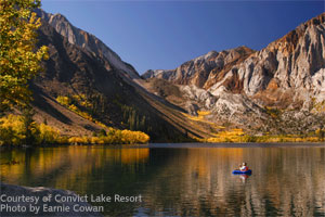 Convict Lake In Mammoth set beneath Mt. Morrison
